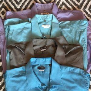 4 Men's Van Heusen Dress Shirts. Size 19 35-36.